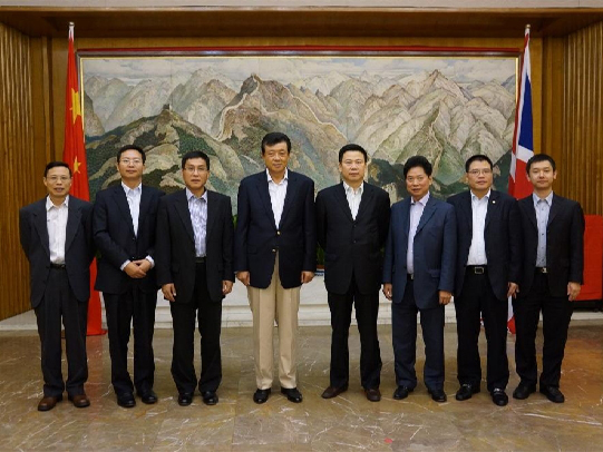 王濱董事長拜訪中國駐英國大使館并會見劉曉明大使