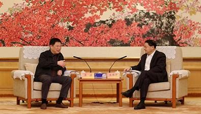 中国太平保险集团董事长王滨在深圳与广东省委常委、深圳市委书记王伟中举行会谈