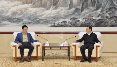中国太平保险集团董事长王滨与四川省委书记彭清华会谈